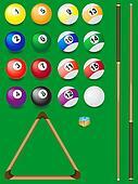 set for billiards