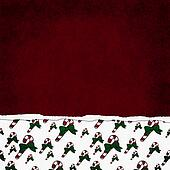 Square Red, Green and White Candy Cane Torn Grunge Textured Back