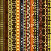 Texture with ethnic geometrical ornaments, colored African motifs background