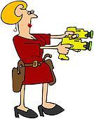 Woman With Double Stun Guns
