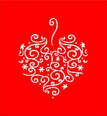 Filigree Heart on Red