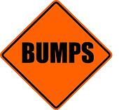 bumps warning sign isolated