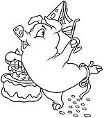 Piglet and Birthday