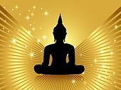 Buddha against golden background