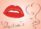 valentine lips