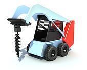 Excavator - drill