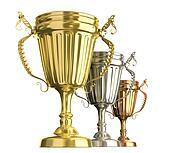 Winner award cups
