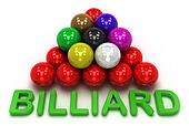 Billiard game, isolated