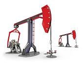 Oil Rig : Pump jacks isolated