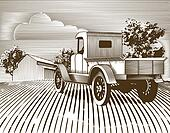 Vintage Truck Scene