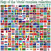 flags of the world and earth globes