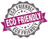 Eco friendly violet grunge retro style isolated seal