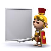 3d Roman soldier whiteboard