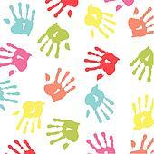 colorful children handprint