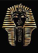 golden pharaoh vector