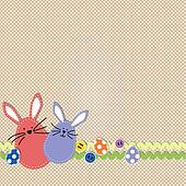 Easter bunnies with easter eggs