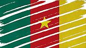 Cameroon Flag tinted texture