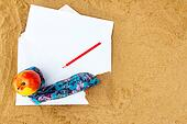 Pencil and Paper note on Beach