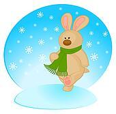 cartoon little toy bunny