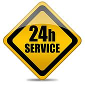 24 hour service sign