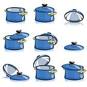 set of pans with lid