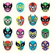 Lucha libre, luchador mexican masks