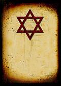 Grunge jewish burned background with david star