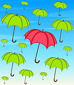 umbrella with wallpaper design