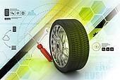 3d tires replacement concept