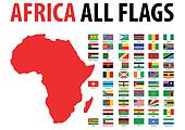 Africa All Flags