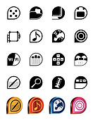 Phone Performance, Internet icons