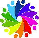 Teamwork business social logo