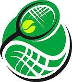 Tennis ball and racquet icon