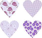 vector holiday hearts