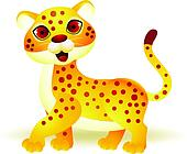 Funny cheetah cartoon