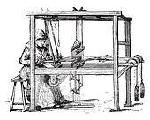 Loom, vintage engraving.