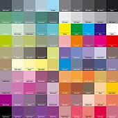 CMYK palette for artist and designer. EPS 8
