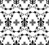 Seamless black royal vector texture