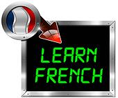 Learn French - Metal Billboard