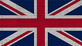 United Kingdom Flag Crepe Paper texture