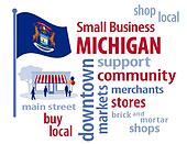 Michigan Flag, Small Business USA