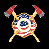 Fire Fighter Cross with Axes