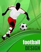 Football design poster