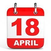 Calendar. 18 April.