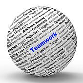 Teamwork Sphere Definition Means Unity And Partnership