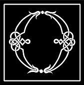 Celtic Knot-work Capital Letter O