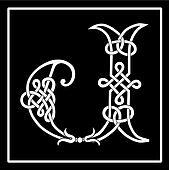 Celtic Knot-work Capital Letter J