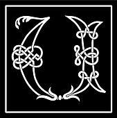 Celtic Knot-work Capital Letter U