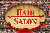 Retro sign Hair salon
