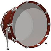 Bass Drum isolated on a white